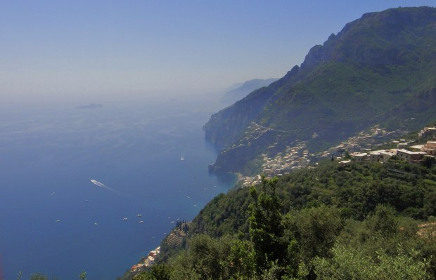 Positano seen from Monterpertuso