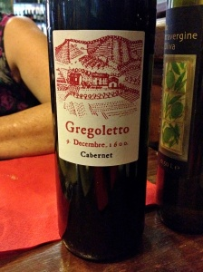 My Mum was very amused but the date on this bottle of wine from Osteria L'Anfora.